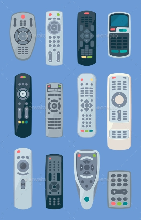 Tv Controllers - Objects Vectors