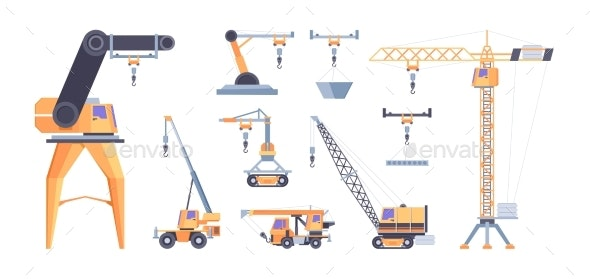 Cranes for Builders - Miscellaneous Vectors