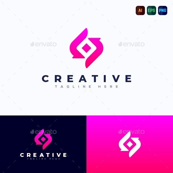 S sending Logo - Creative Letter Logo