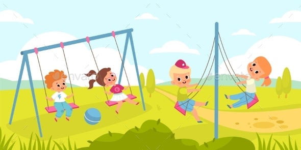 Children Rope Swings - Landscapes Nature