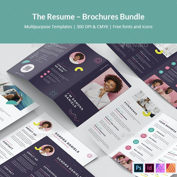 The Resume – Brochures Bundle Print Templates 7 in 1
