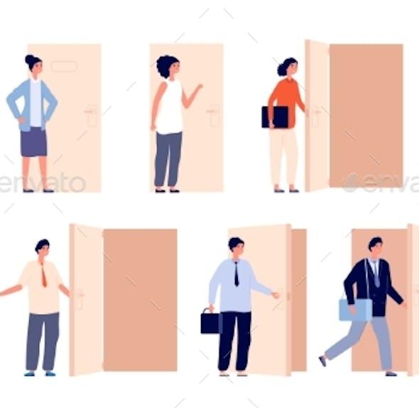 People at Door