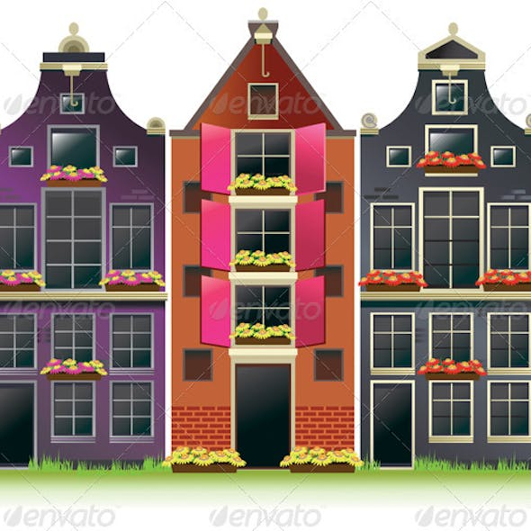 Old Amsterdam Canal Houses from Europe