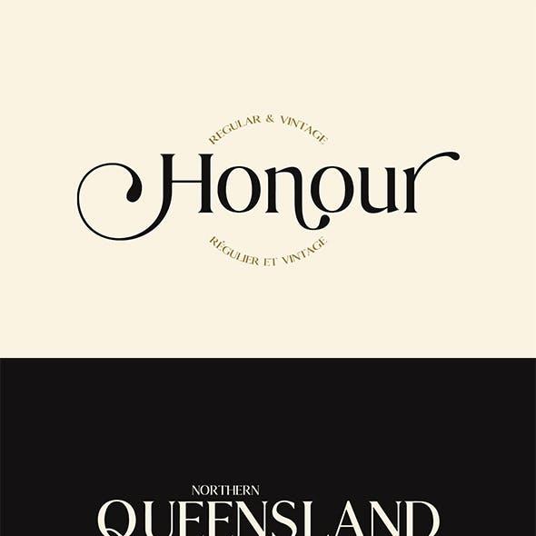 Honour Modern & Vintage Font