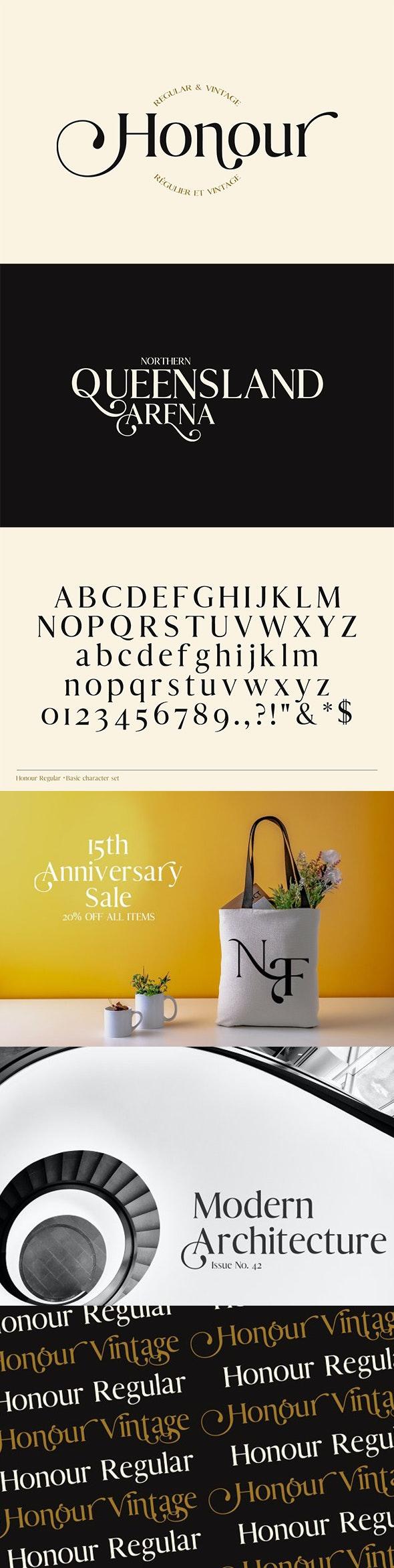 Honour Modern & Vintage Font - Serif Fonts
