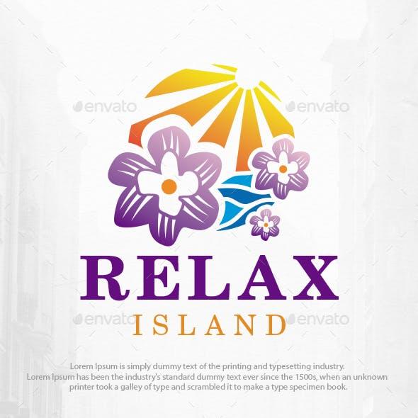 Relax Island Logo Template