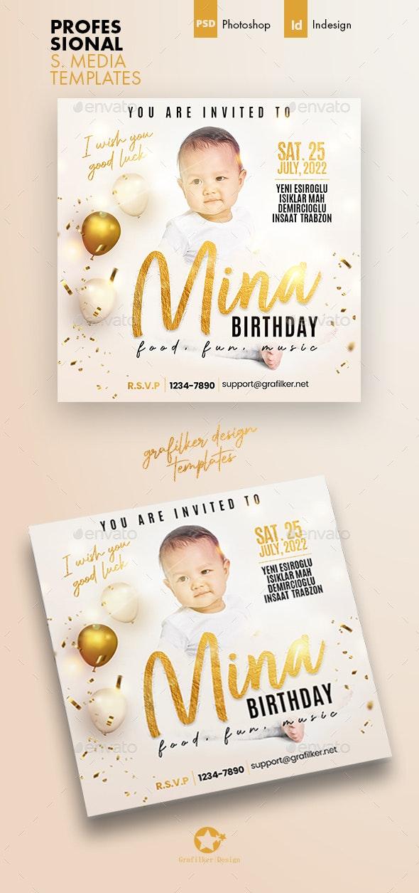 Baby Event Social Media Templates - Social Media Web Elements