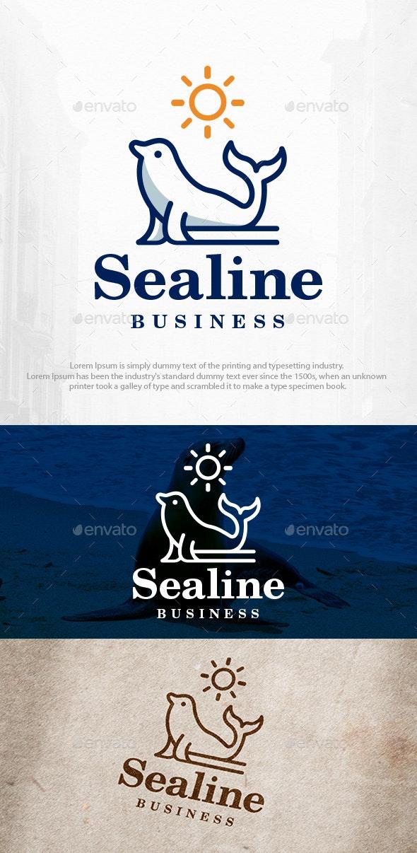 Seal Sun Logo Template - Animals Logo Templates