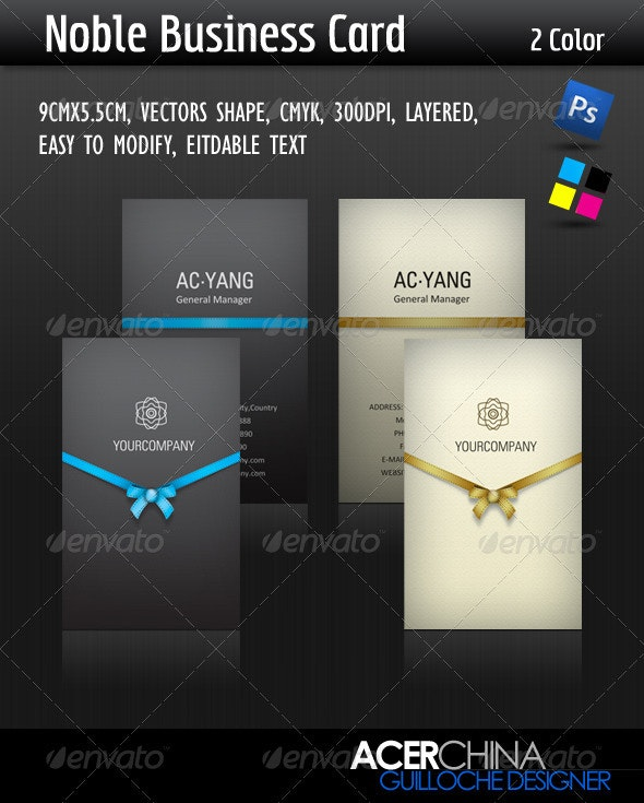 Noble Business Card - Corporate Business Cards