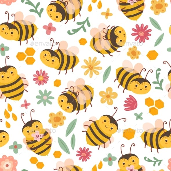 Cute Bee Pattern