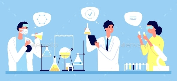 Laboratory Concept - People Characters