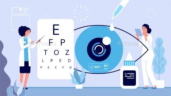 Ophthalmology Illustration - Health/Medicine Conceptual