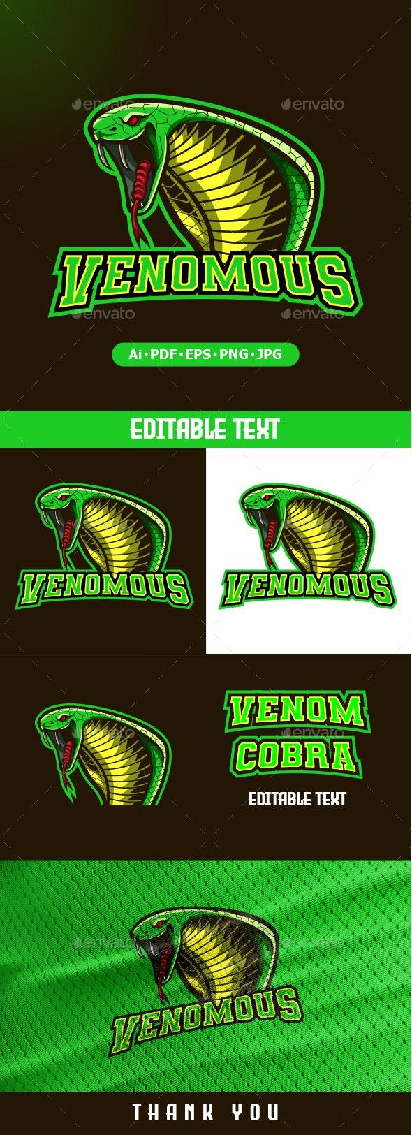Head Cobra Mascot logo for eSport - Animals Logo Templates