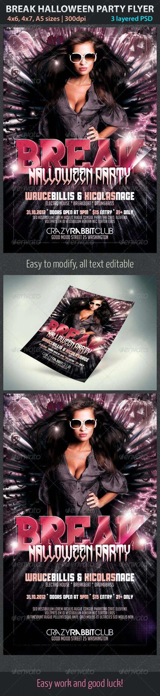 Break Halloween Party Flyer - Clubs & Parties Events