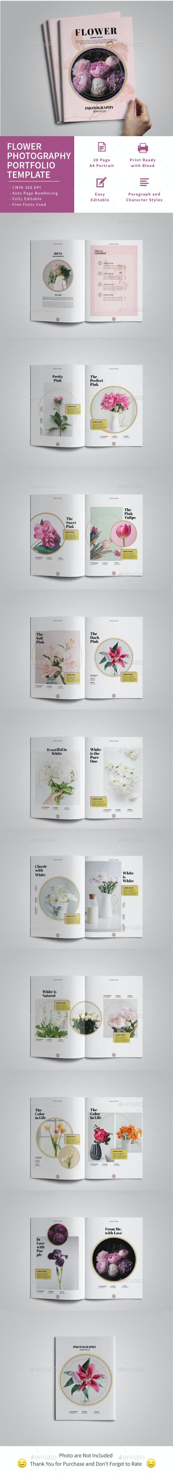 Flower Photography Portfolio Template - Portfolio Brochures