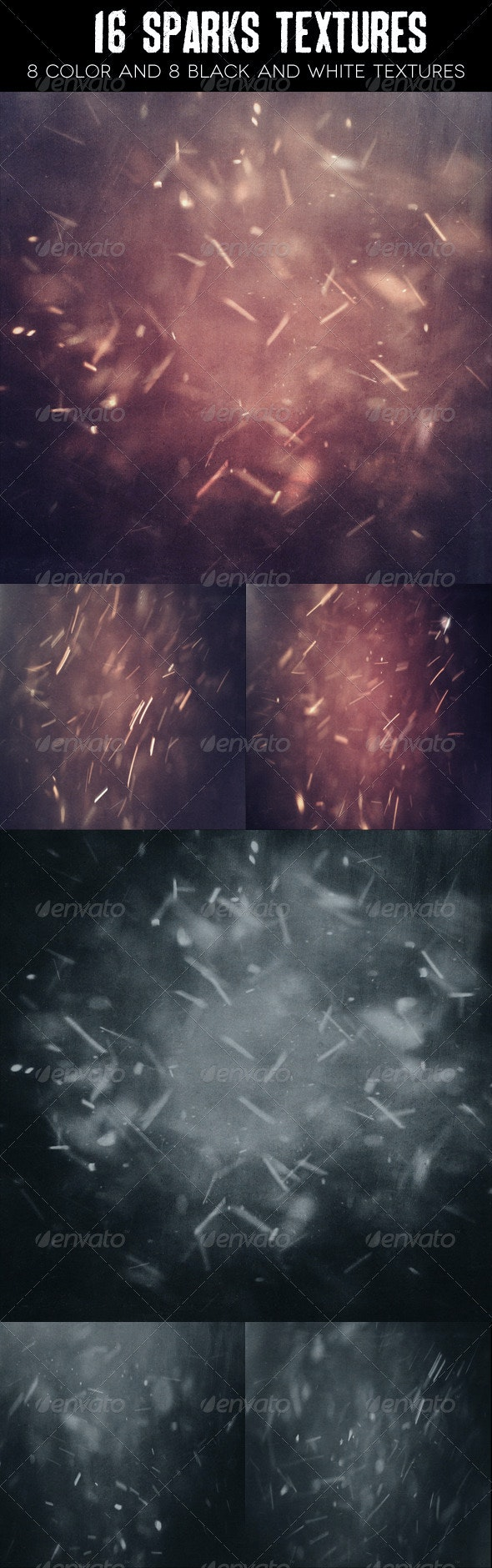 16 Sparks Textures - Industrial / Grunge Textures