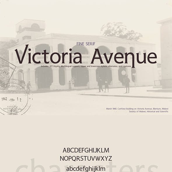 Victoria Avenue Serif Font & Extras