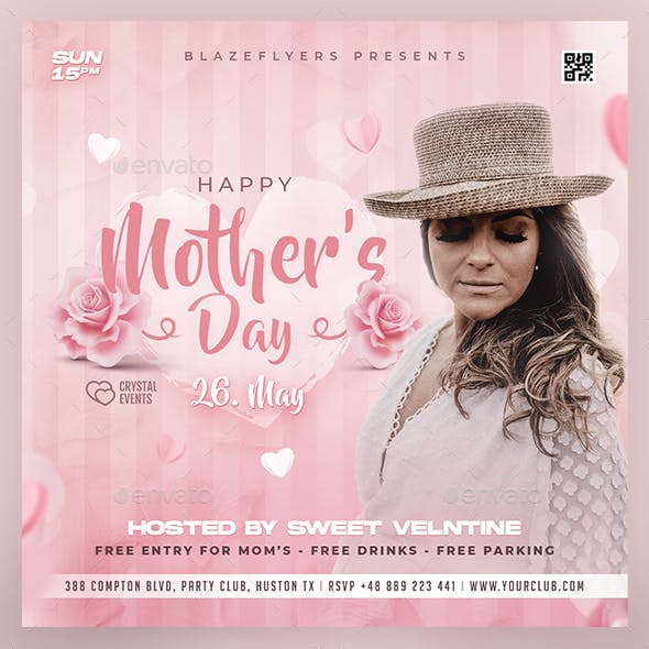Mother's Day Party Flyer
