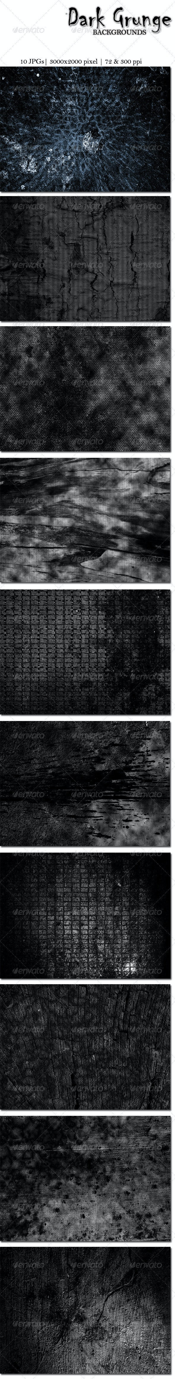 10 Dark Grunge Backgrounds - Miscellaneous Backgrounds