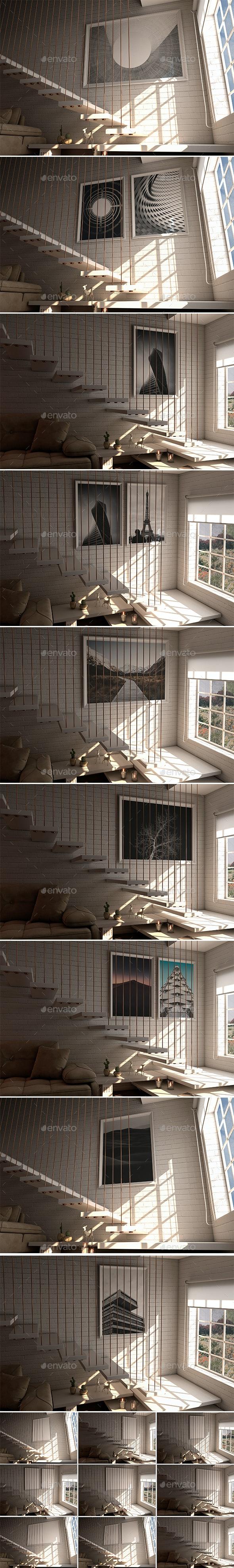 Indoor House Photorealistic MockUps - Product Mock-Ups Graphics