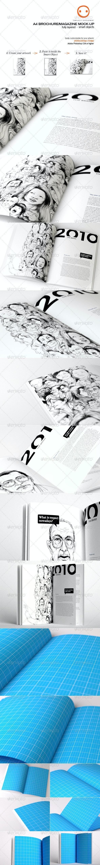 A4 Brochure/Magazine Mock-up - Magazines Print