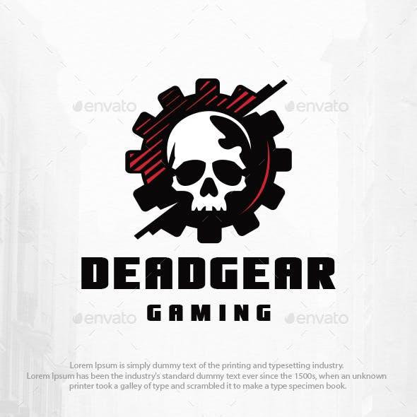 Dead Gear Skull Logo Template