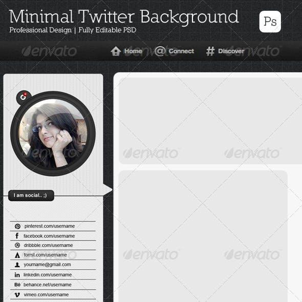 Minimal Twitter Background V3
