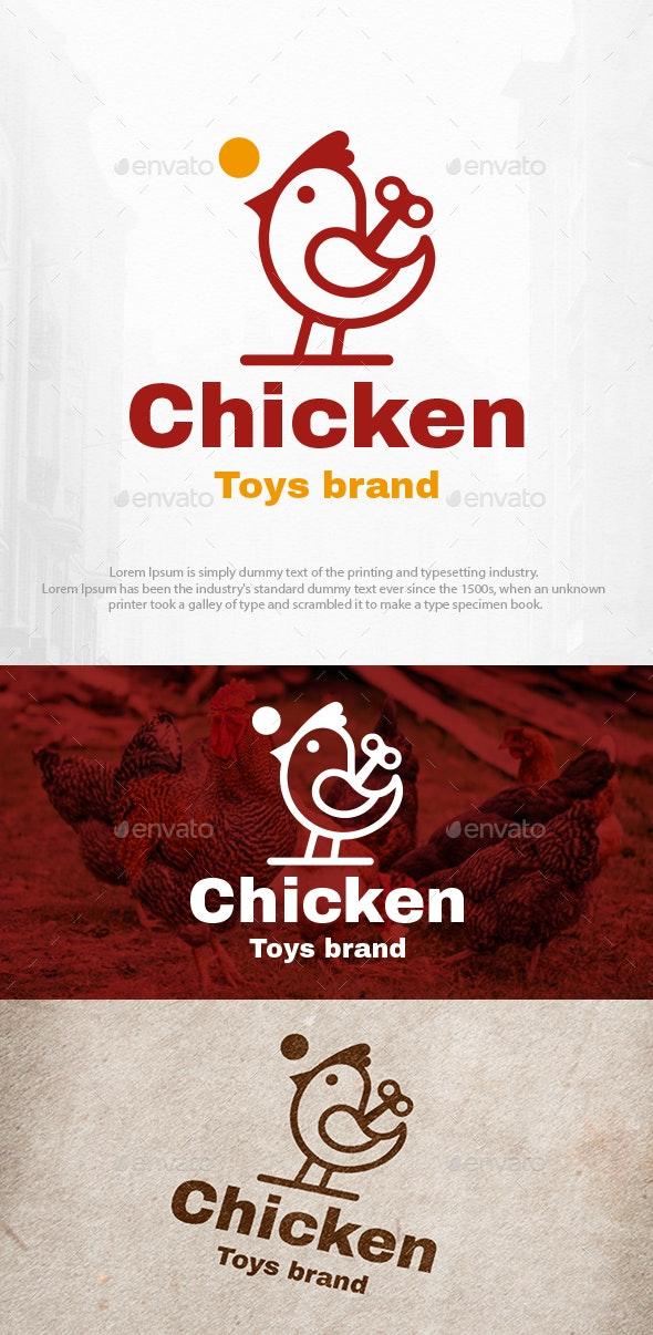 Chicken Toy Logo Template - Animals Logo Templates