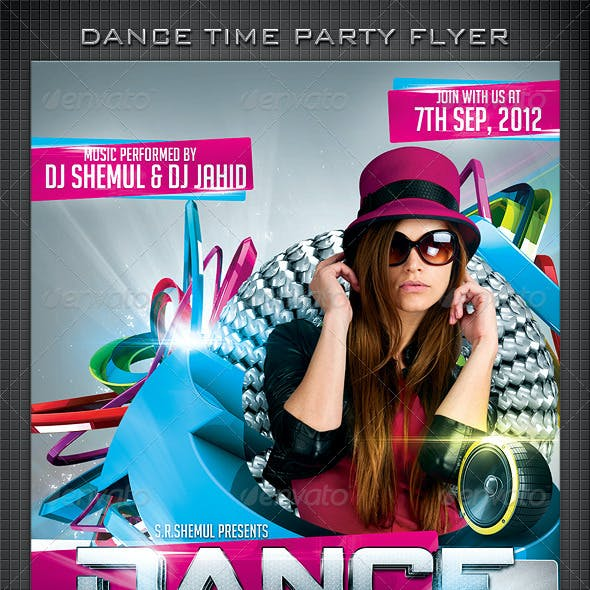 Dance Time Flyer Template