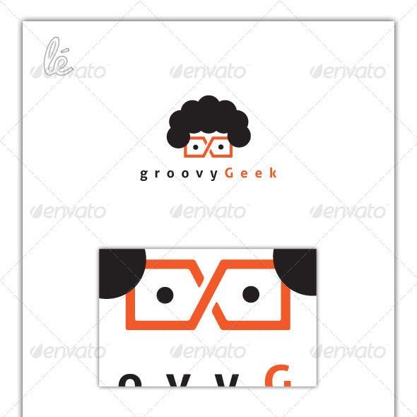 Groovy Geek Nerd Dev Web Designer Logo