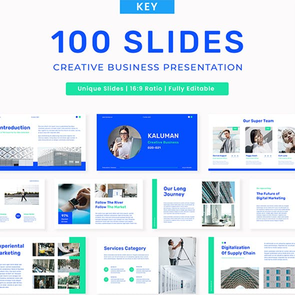 Kaluman - Creative Business Presentation KEY Template