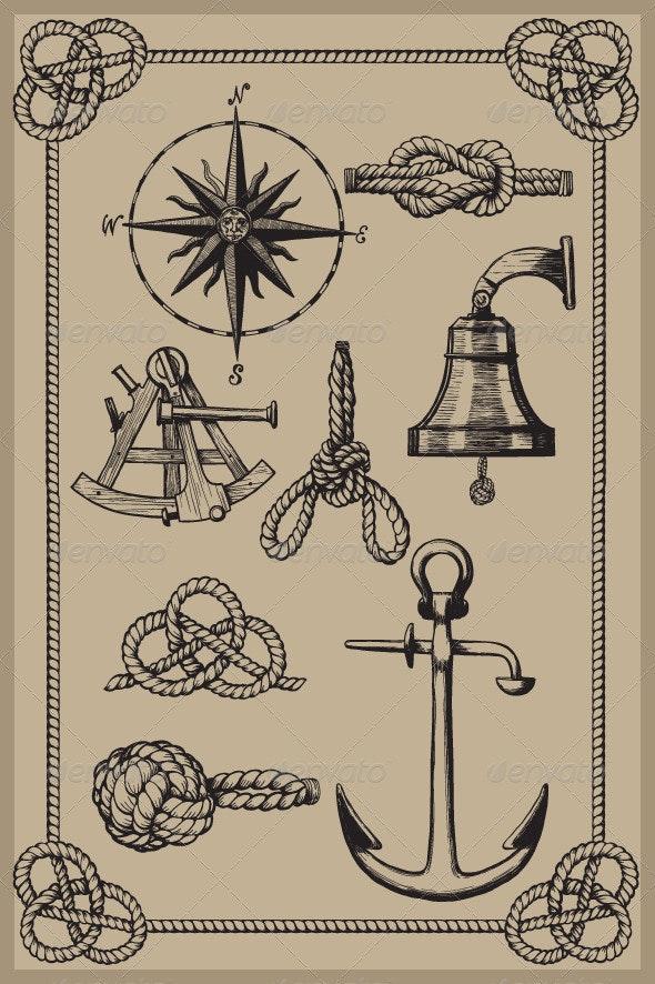 Nautical elements - Decorative Symbols Decorative