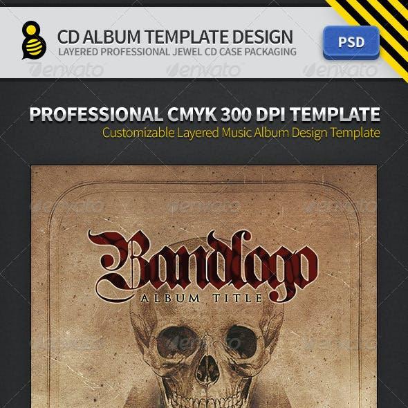 CD Album Template Design
