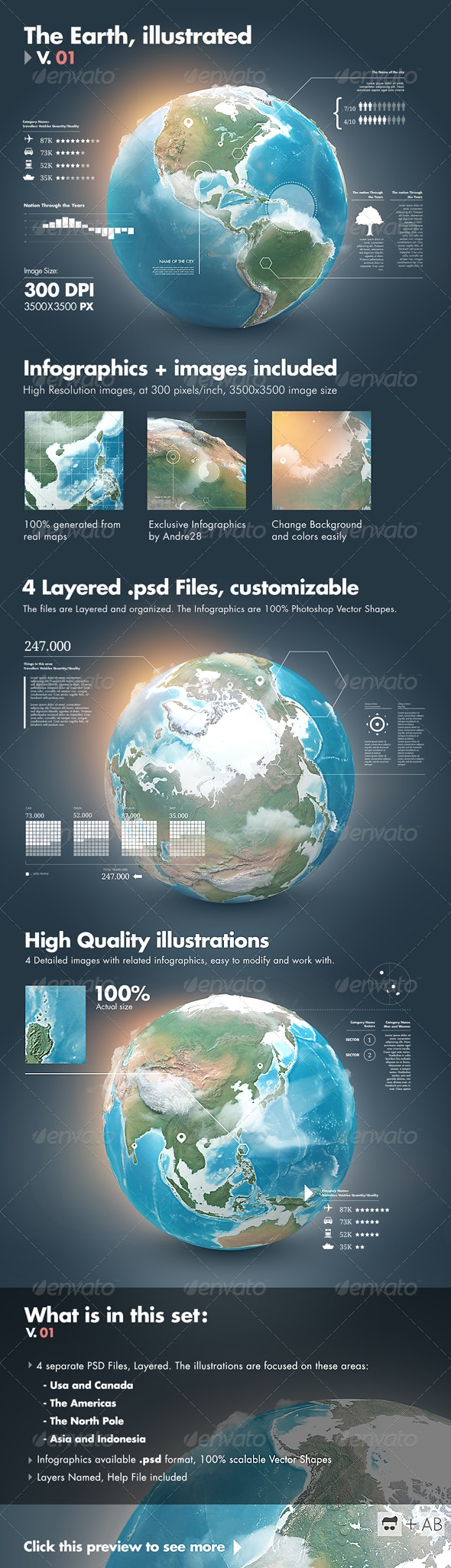 Earth Illustrations and Infographics - V1 - Infographics
