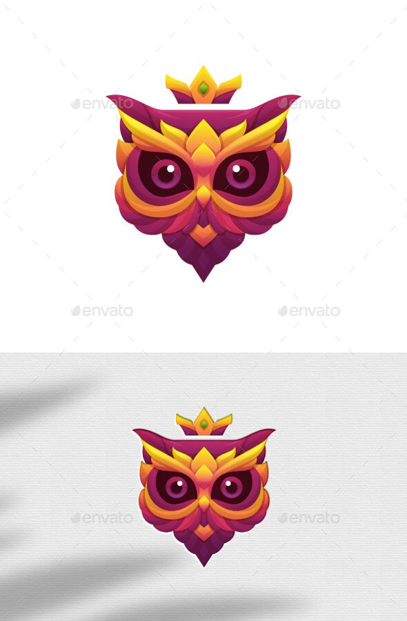 Owl Mask Vector Illustration - Animals Characters