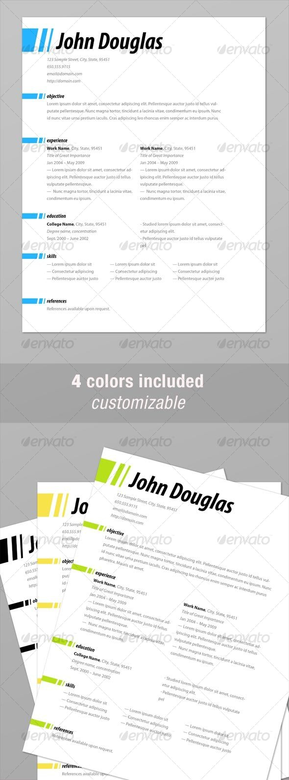 Clean & Professional Resume - Resumes Stationery