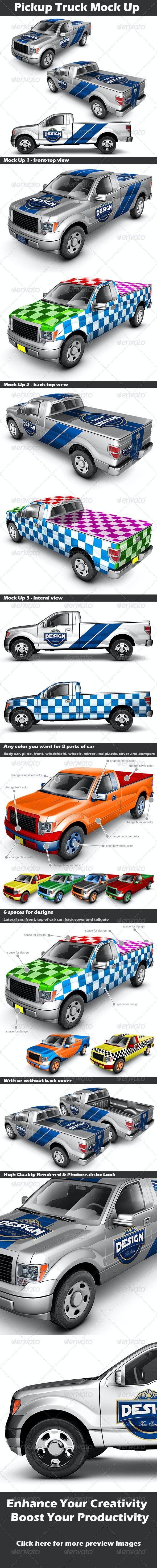 Pickup Truck Mock Up - Vehicle Wraps Print
