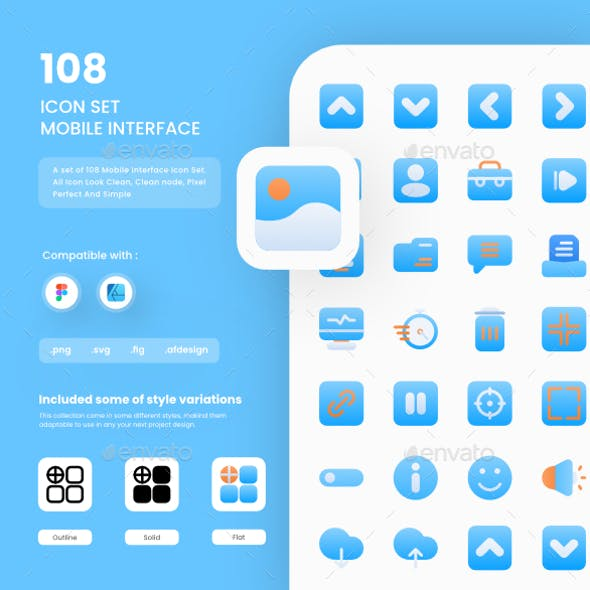 Mobile Interface Icons