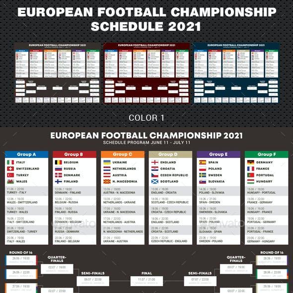 European Soccer Football Championship Schedule 2020 - 2021