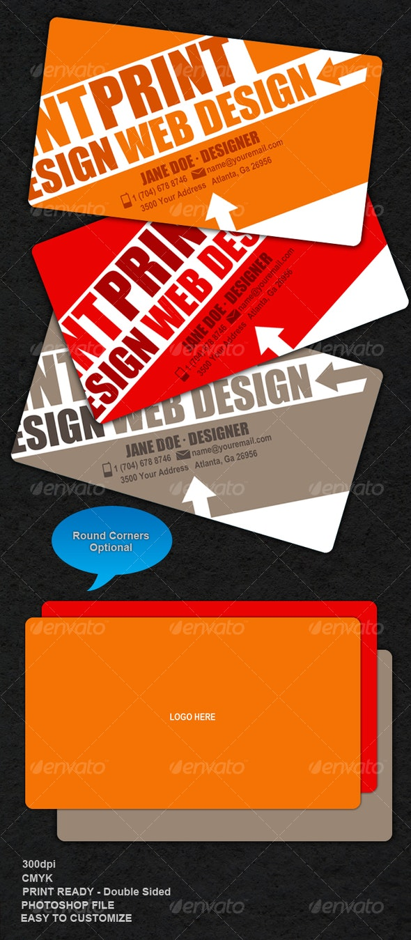 Edgy-Colorful Business Card - Creative Business Cards