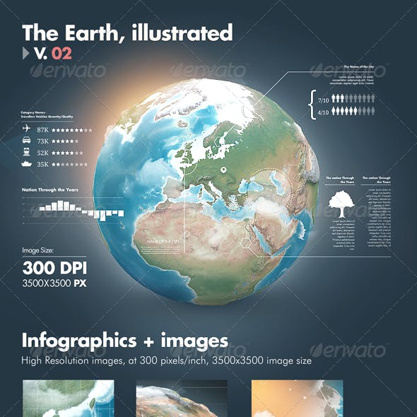 Earth Illustrations and Infographics - V2