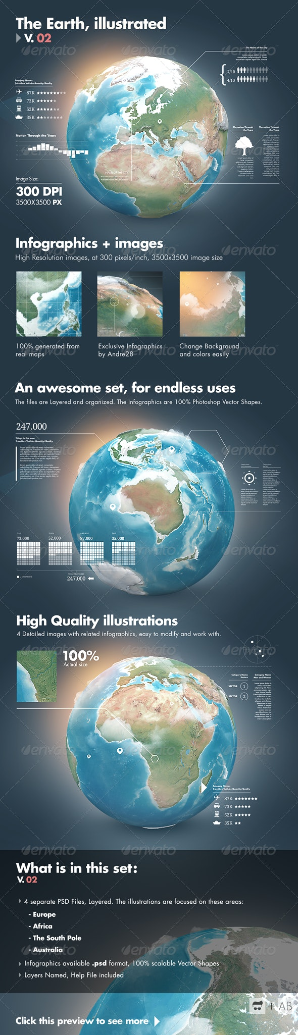 Earth Illustrations and Infographics - V2 - Infographics