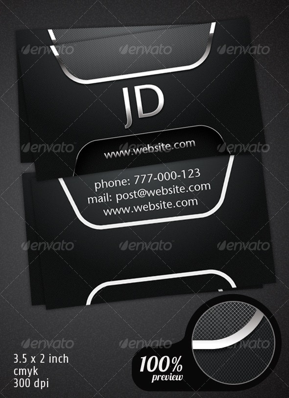 Carbon Business Card - Corporate Business Cards
