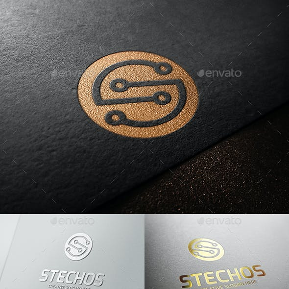S Tech Abstract Letter Logo