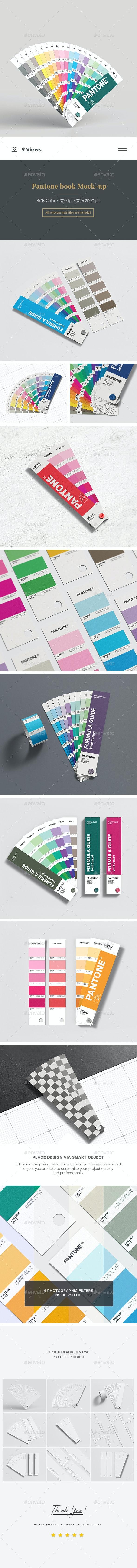 Pantone Book Mock-up - Product Mock-Ups Graphics
