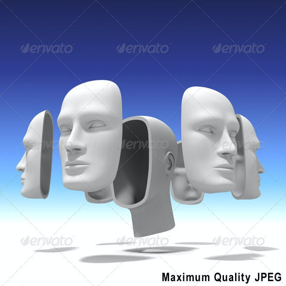 Human Head with Many Faces