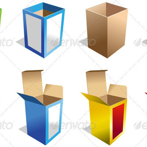 Set of 8 Different Boxes