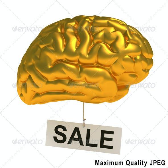 Stylized Golden Brain