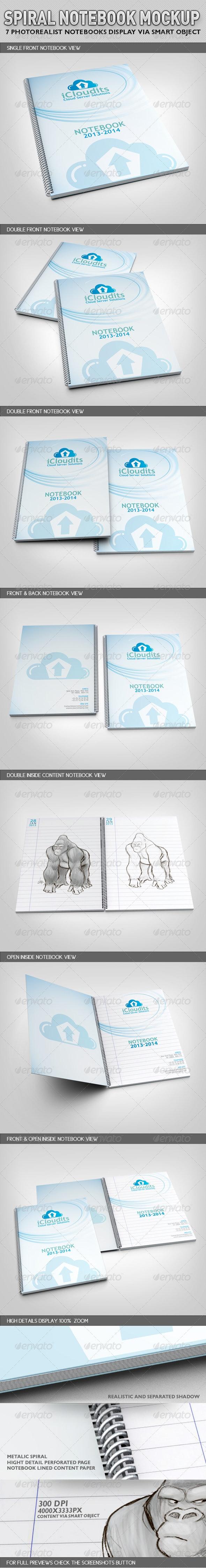 Spiral Notebook Mock-Up - Books Print