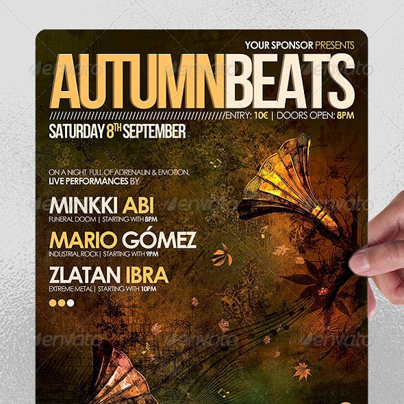 Autumn Beats Poster/Flyer